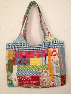 Scrappy tote side 1 | inspiration credit totally goes to thi… | Flickr - Photo Sharing!