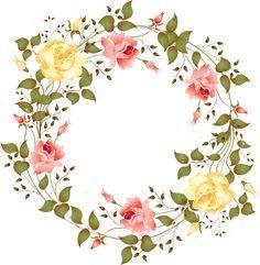molduras estilo vintage flores - Pesquisa Google