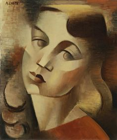 Expresive Head, c.1924 by Andre Lhote (French 1885-1962)