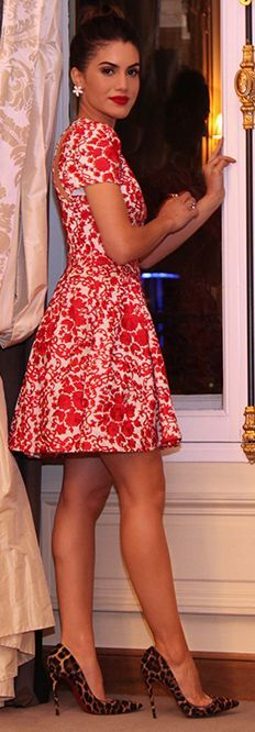 Camila Coelho Red Lace Outfit