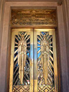 ART DECO | Cochise County Courthouse doors, Bisbee, Arizona, 1931. Architect: Roy W. Place