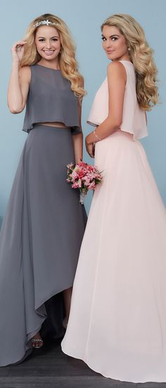 Two piece bridesmaid dresses by Christina Wu Celebration   @HouseofWuBrands #ChristinaWuCelebration #ChristinaWu #HouseofWu