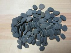 Lot Of 100 Gray To Black Beach Stones Natural Mosaic Craft Stone Crafts Rock