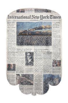 Amazing newspaper art