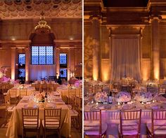 Floral patterns were projected onto the walls, creating a chic, festive atmosphere.