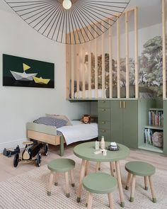 Girls Bedroom, Bedroom Decor, Bedroom Ideas, Ideas Dormitorios, Cool Kids Rooms, Kids Room Design, Toddler Rooms, Green Rooms, Boy Room