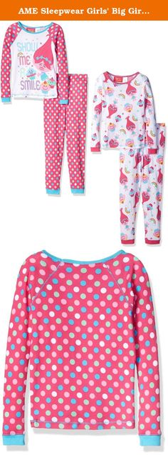 02b07d4d68 AME Sleepwear Girls  Big Girls  Trolls Long Sleeve Long Leg Cotton Pajama  Set