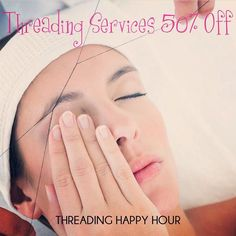 To celebrate our newest service we are offering a killer deal for two days! Our threading specialist has over 10 years of experience. See you soon!  Deal: 50% off on all threading services  Days: Thursday Mar 9 & Friday March 10  Times: 10 am - 3 pm  Prices:http://bit.ly/threadingprices  No appointment required.  #threading #waxingbyceleste #SanDiego #ElCajon #Santee #LaMesa #EastCounty #eyebrows #eyebrowthreading #waxing #LemonGrove #SpringValley #eyebrowthreading #brows #browshaping…