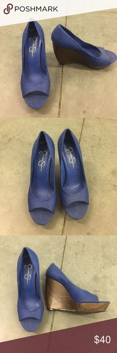 Jessica Simpson wedge Worn less than a handful of time. Great condition. Jessica Simpson Shoes Wedges