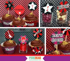 Rock Star Birthday Party Toppers  by PixieBearParty on Etsy #RockStarBirthday #RockStarParty