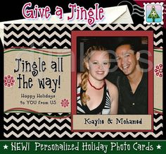 holiday photo card, christmas photo card, custom card, personalized card, jingle all the way