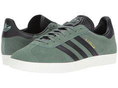 newest collection 589a6 0e8d2 adidas Originals Gazelle Men s Classic Shoes Trace Green Black Gold Adidas  Originals, Verde