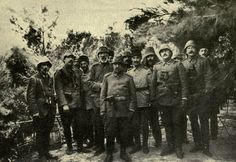 Turkish and German officers at Gallipoli, WWI.