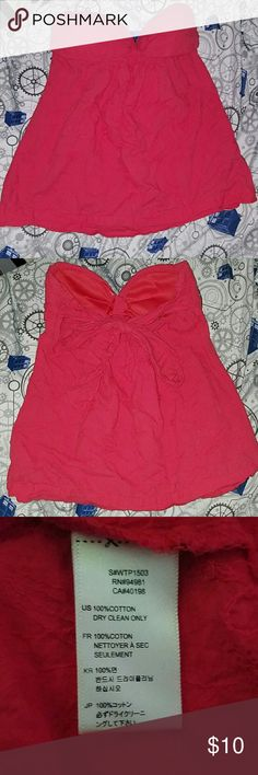 Large strapless shirt Pink, ties in the back, has clear hangerstraps, perfect for summer Forever 21 Tops