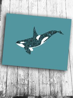 Killer whale art printable digital art print by RedFeatherPrints, $5.00