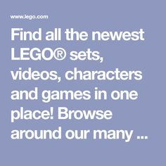 Find all the newest LEGO® sets, videos, characters and games in one place! Browse around our many products, see what's trending, watch one of our many cool videos and play our fun web games! Fun for hours! Karen Sheila Gillan, Free Lego, Bun Maker, Kid Stuff, Cool Stuff, Watch One, Lego Creations, Lego Sets, Kids Crafts