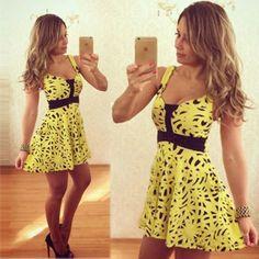 Sexy-Women-Yellow-Casual-Sleeveless-Evening-Party-Beach-Dress-Short-Mini-Dress