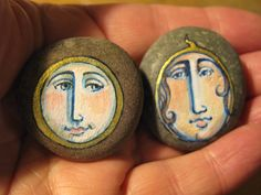 painted pebbles by Joy Williams