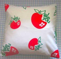 Pomme de Jour Vintage Fabric Cushion Cover  1970s I by Pommedejour, $28.00