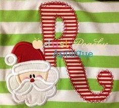 Santa Letters Alphabet Applique Font 26 Alphabet Set Machine Embroidery Design Plus Free Design. $10.00, via Etsy.
