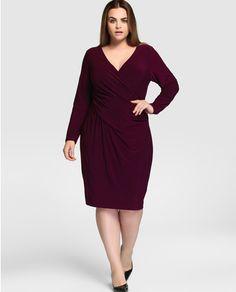Vestido de mujer talla grande Lauren Woman con drapeado en la cintura