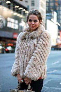 cheap fox. We can all afford fur, ladies