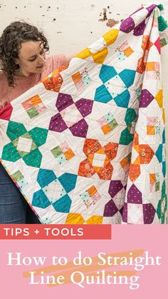 Click here for tips and tools for successful straight line quilting || Blossom Heart Quilts Free Motion Quilting, Quilting Tips, Quilting Tutorials, Machine Quilting, Quilting Projects, Quilting Designs, Modern Quilting, Sewing Projects, Sampler Quilts