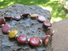 Mookaite Lentil Beads!