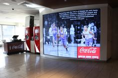 We designed and installed a specialist videowall backdrop with a bespoke control system for Coca-Cola's installation at Madison Square Garden in New York, which relays the live game action from inside the Arena and is a point of sale for the latest Coca-Cola Freestyle fountain machines.