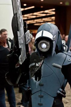 Legion from the Mass Effect series. Very well done. There is some amazing Mass Effect cosplay out there... and this one is one of them!