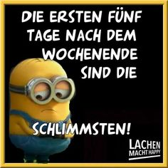 Lachen Macht Happy, Happy Minions, Humor, Funny, German, Bob, Comic, Funny Sayings, Funny Signs