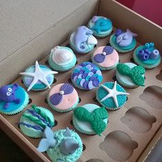 Mermaid cupcake birthday party