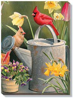 Susan Bourdet Garden Delights - Cardinals