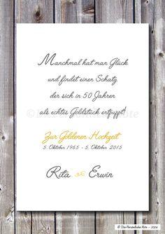 Eine nette und herzliche Geschenkidee zum 50. Hochzeitstag ist dieser Print in dezenten Pastelltönen