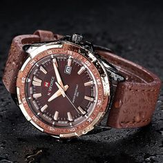 65243fa7906 Men's Sport Watch Casual Military Leather Waterproof Quarz Men's Sport  Watch Casual Military Leather Waterproof Quarz