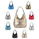 OBC Damen Metallic Tasche Shopper Hobo Bag Schultertasche Umhängetasche Handtasche Henkeltasche Beuteltasche: Die Hobo Bag - eine modische…