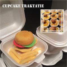 Cupcake Hamburger traktatie pomtips