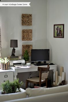 rustic, vintage chic office by our vintage home love