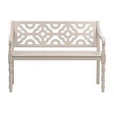 Creamy Gray Geometric Bench | Kirklands