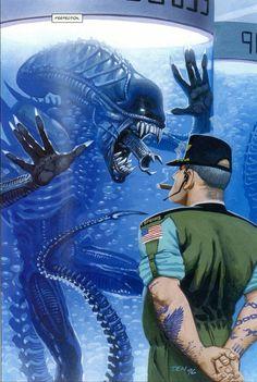 alien and xenomorph Alien Vs Predator, Predator Alien, Alien Films, Aliens Movie, Arte Alien, Alien Art, Xenomorph, Concept Art Alien, Dragon Rey