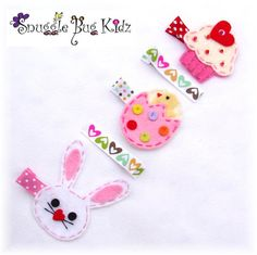 Easter hair clips for my girls by Snuggle Bug Kidz