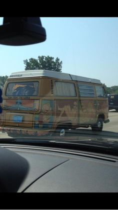The van we saw on the way to Dave '13. Not my picture. The chick was super cool!!