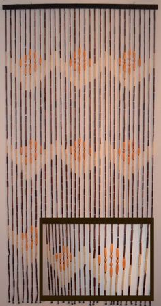 Details About Vintage Wood Beads Door Frame Curtain 1960s