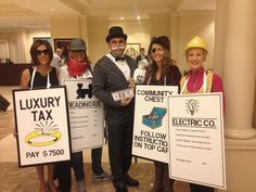 Monopoly group costume Halloween