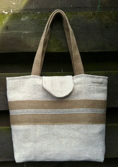 antique linen tote bag shoulder bag by boonestaakjes on Etsy, $80,00