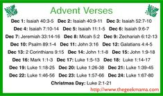 Start a new Christmas tradition with Advent Bible verses