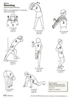 Pre running stretch