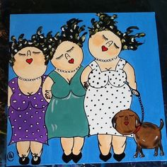 Plus Size Art, Funny Paintings, Acrylic Painting Lessons, Painting People, Naive Art, Mural Art, Learn To Paint, Medium Art, Cute Art