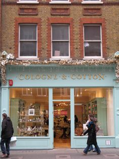 Cologne & Cotton | London - definitely a special stop to make while in London!