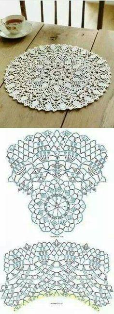 Салфетка Mantel Redondo, Crochet Granny, Crochet Round, Crochet Dollies, Crochet Mandala Pattern, Crochet Circles, Crochet Motifs, Thread Crochet, Knit Crochet